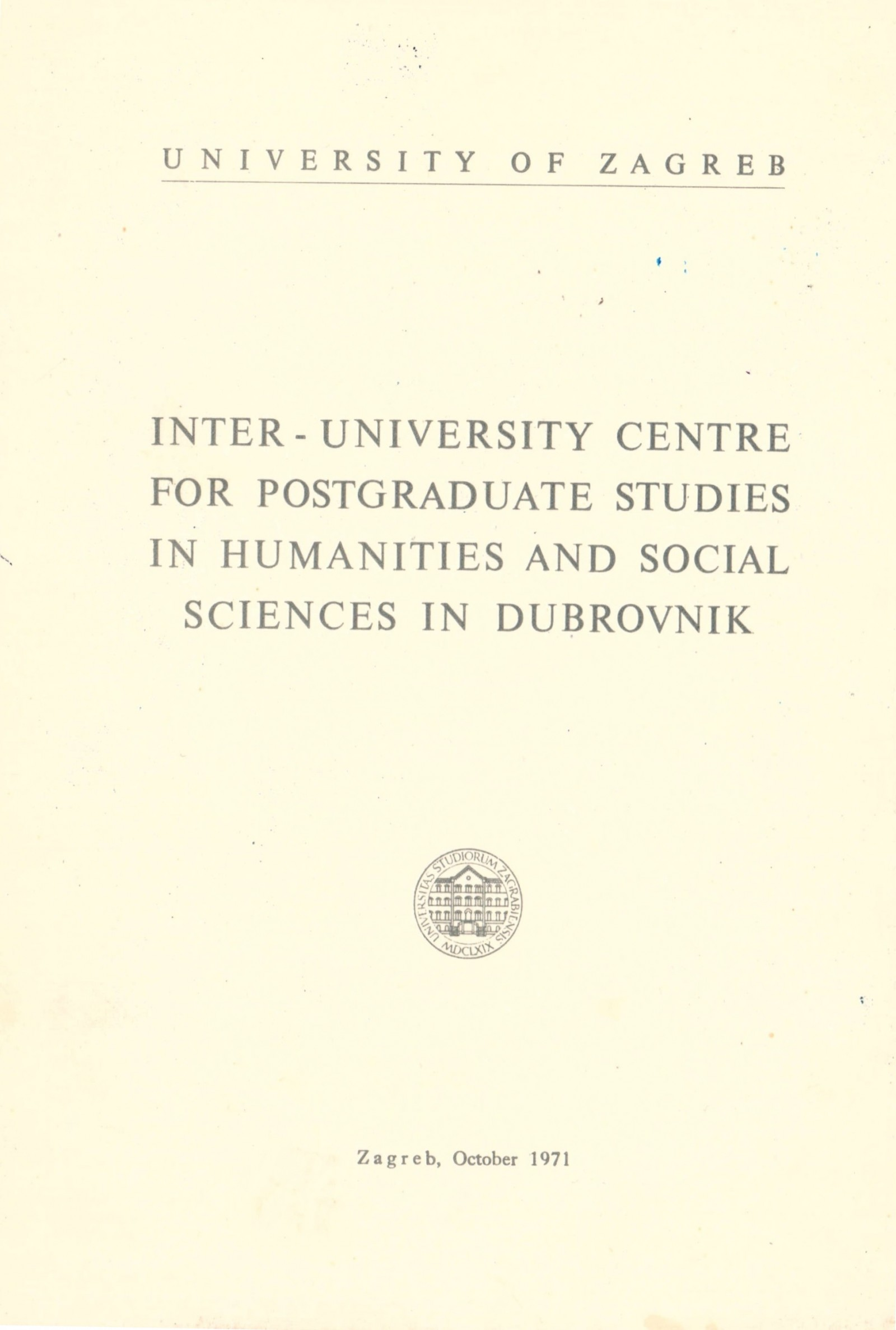 Inter-University Centre for Postgraduate Studies in Humanities and Social Sciences in Dubrovnik